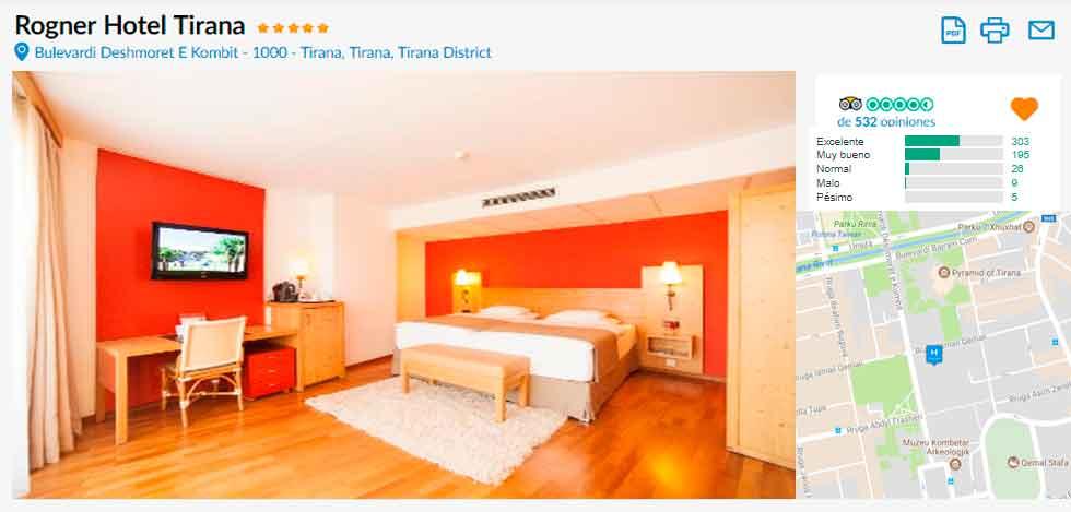 Foto del Hotel hotel rogner tirana del viaje albania dubrovnik