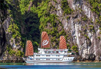 Foto del Hotel junco baya del viaje indochina etnica cultural