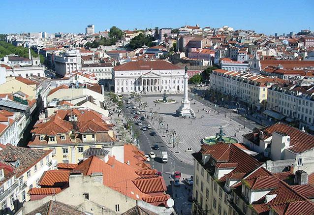 Viaje viaje tesoros portugal plaza rossio lisboa