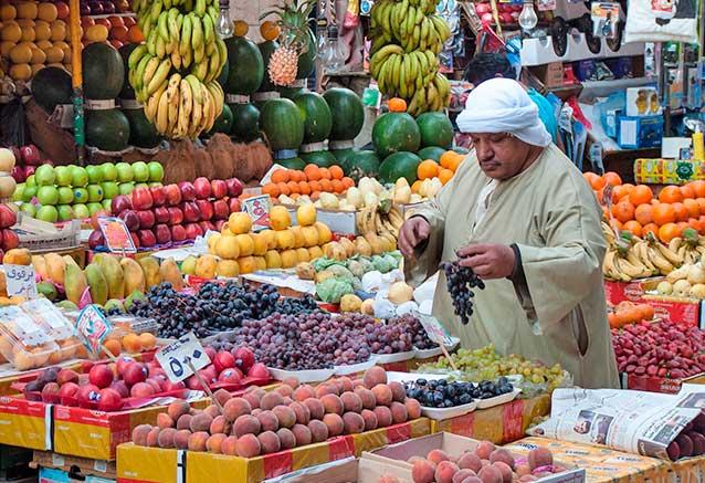 Foto del viaje ofertas oferta viaje egipto navidades 2018 Puesto de frutas en El Cairo