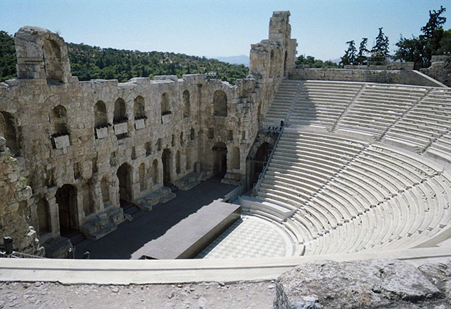 Viaje grecia oro acropolis theater