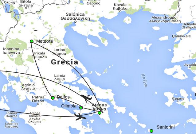 Viaje grecia al completo circuito grecia