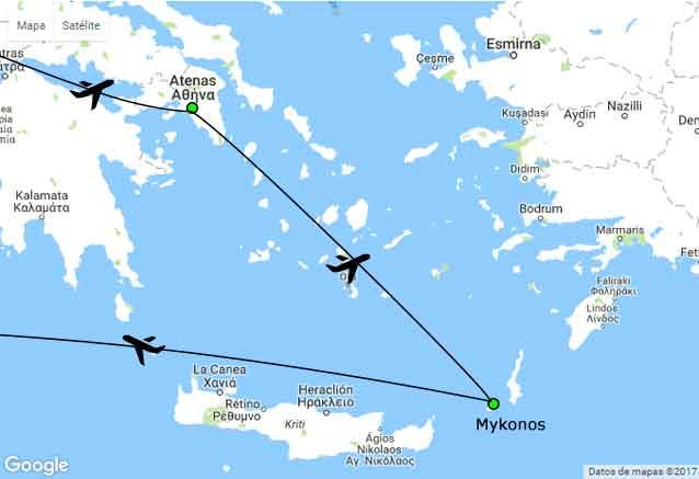 Viaje atenas mykonos 7 dias mas grecia plano islas