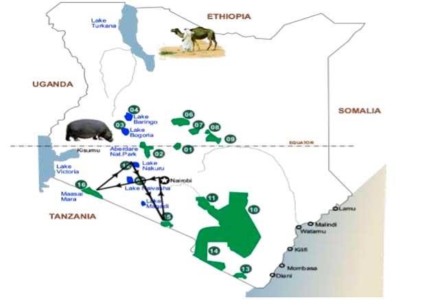 Viaje kenia amboseli 8 dias mapa 6