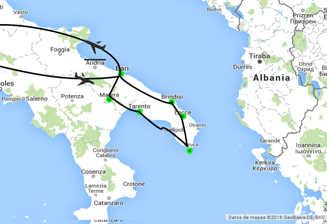 Viaje circuito apulia italia apulia