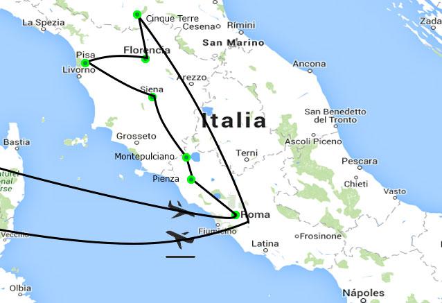 Viaje roma toscana cinco terre cinco