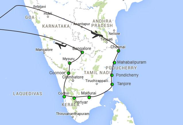 Viaje india todo sur 15 dias india del sur