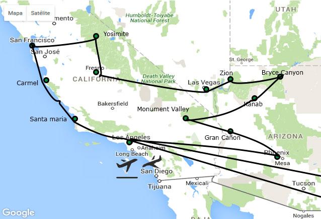 Viaje suenos del oeste usa suenos de oeste
