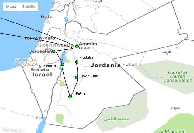 Viaje jordania jerusalen wadi rum mapa jerusalen