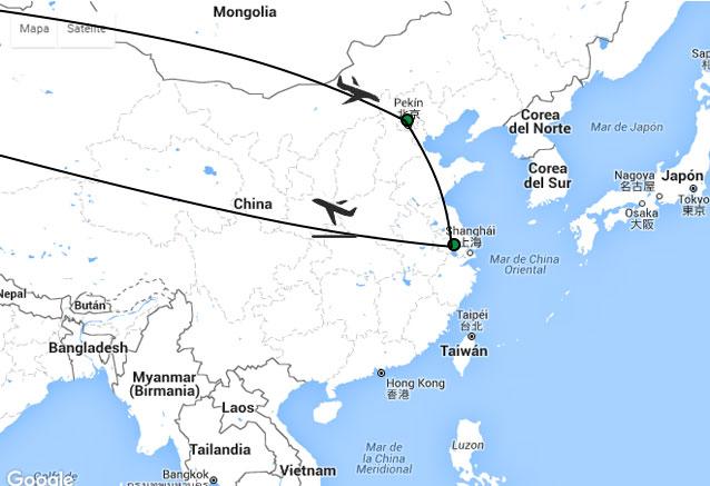 Viaje pekin vs shanghai vs