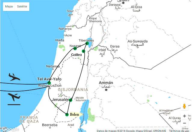 Viaje tour rebeca mapa israel corregido