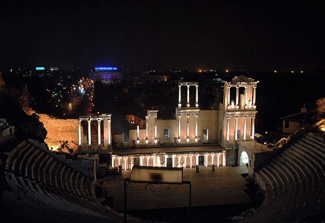 Viaje bulgaria del mar negro tatro noche plovdiv