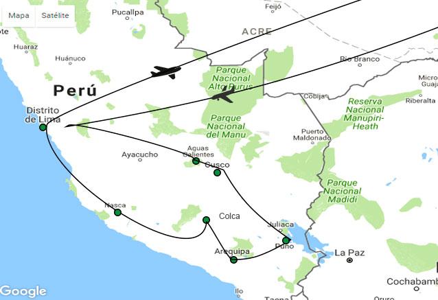 Viaje maravillas peru machu pichu maravillas del peru mapa