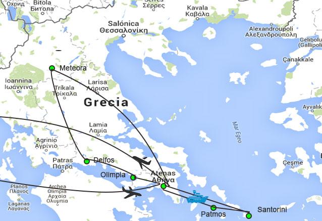 Viaje grecia iconica crucero 3 noches crucero y circuito