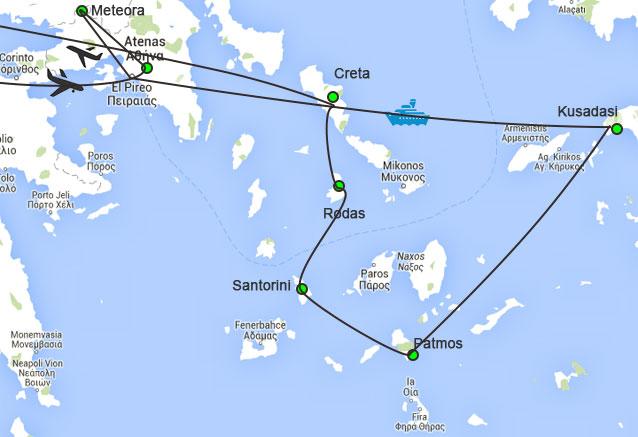 Viaje grecia peloponeso crucero 4 noches grecia crucerso
