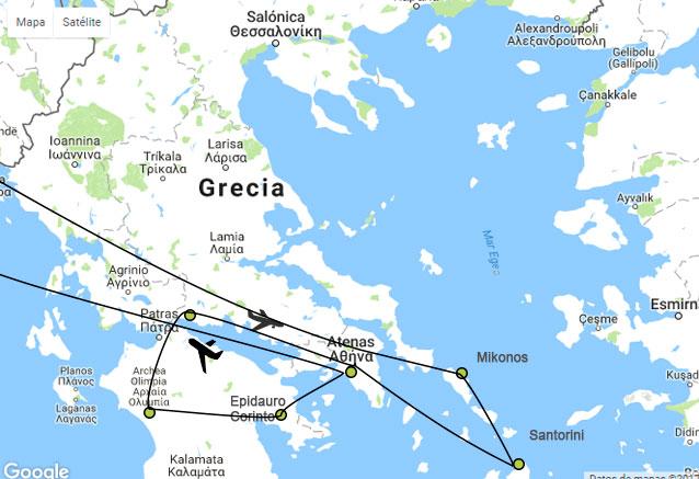 Viaje viaje odisea griega atlas