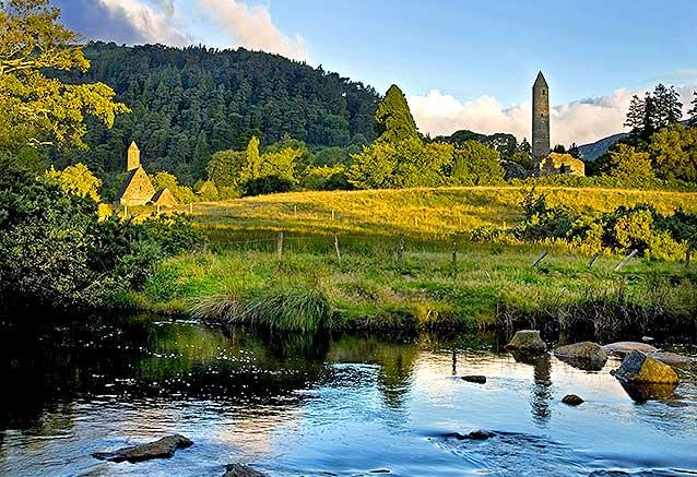Viaje viaje sabores irlanda norte sur Irlanda Paisaje de Glendalough por Chris Hill 2009