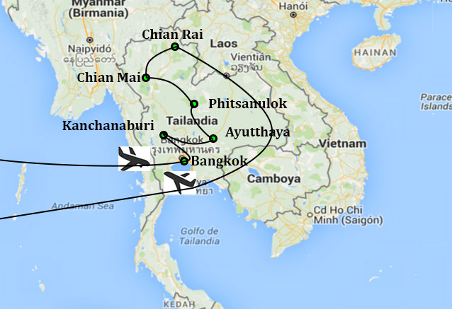Viaje circuito bangkok chiang mai bkk chianmai