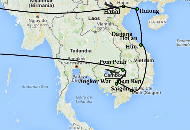 Viaje vietnam clasico siem rep pom penh con pom penh