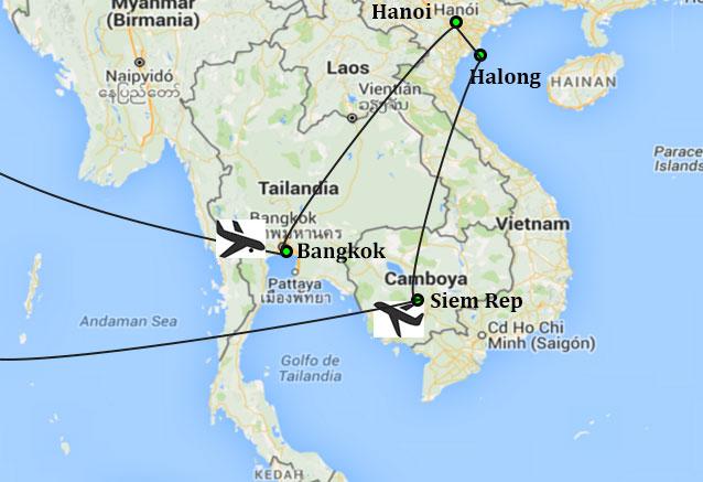 Viaje vuelo express indochina exprss