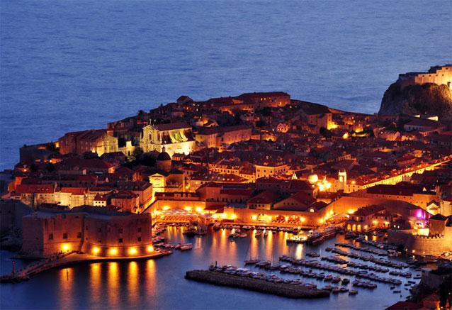 Viaje crucero costa dalmata croacia Dubrovnik noche