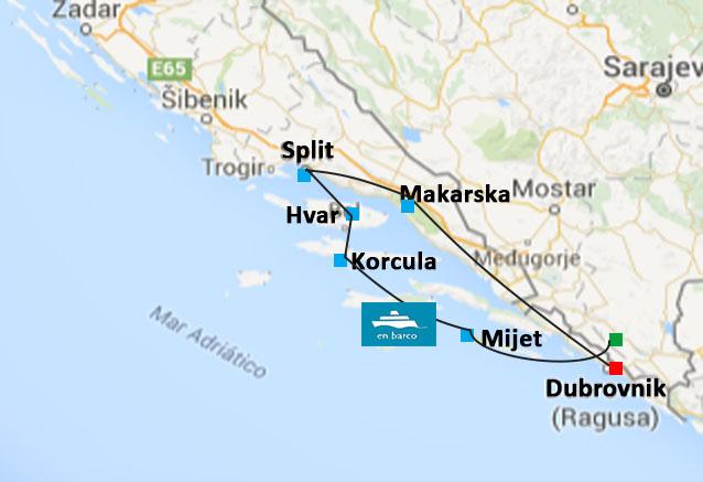 Viaje crucero costa dalmata croacia costa dalmata barco