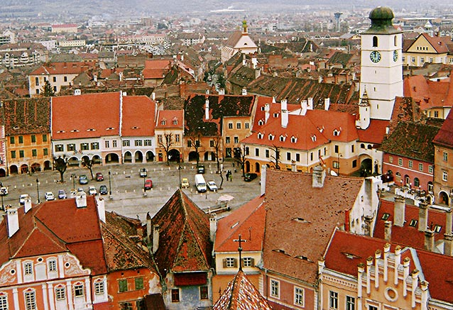 Viaje rumania transilvania diciembre Piata Mica Sibiu