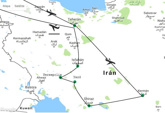 Viaje iran maravilloso 12 dias mapa iran 12 dias