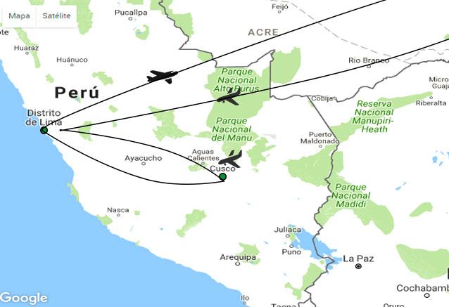 Viaje amaneceres peru mapa amanecer del inca