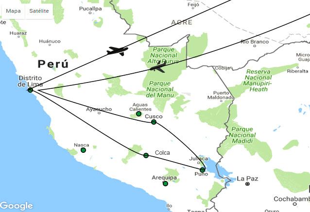 Viaje experiencias andinas peru mapa experiencia andina