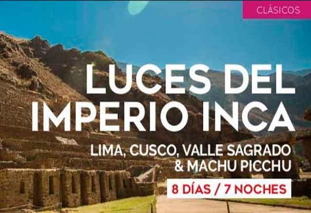 Foto del viaje ofertas luces del imperio inca peru luces incas