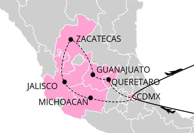 Viaje mexico arqueologico ciudades virreinales
