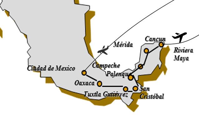 Viaje mexico arqueologico mapa arqueologico