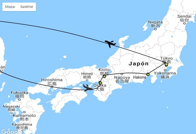 Viaje japon expres plano japon uno