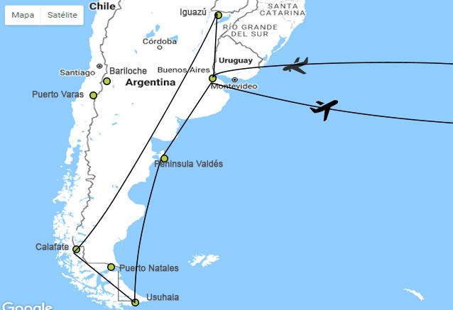 Viaje argentina ballenas cataratas argentina en 17dias