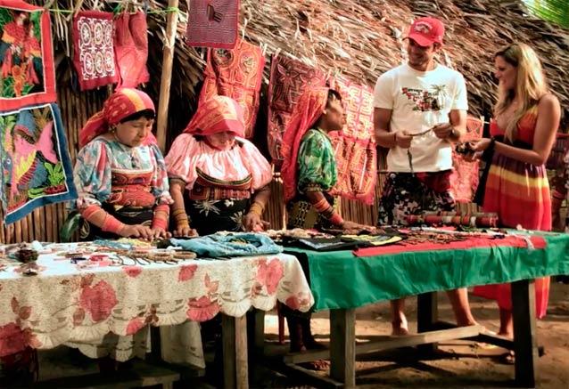 Viaje panama playa ciudad bosque mercado panama tradicional
