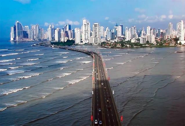 Viaje panama playa ciudad bosque panama puente