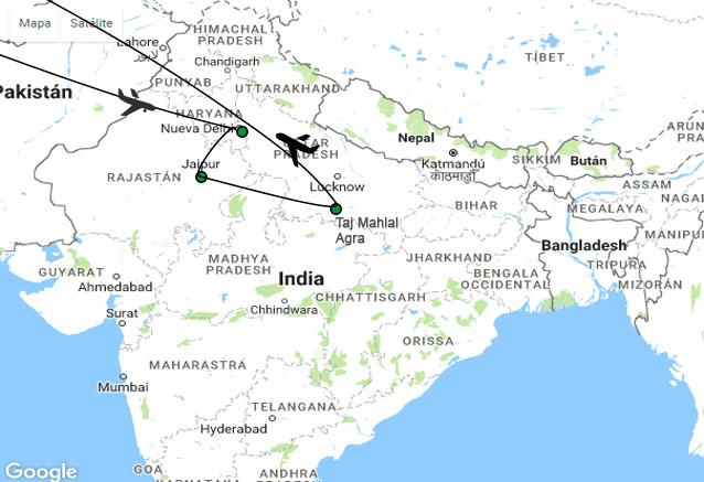 Viaje viaje india vuelos directos cheap india plano