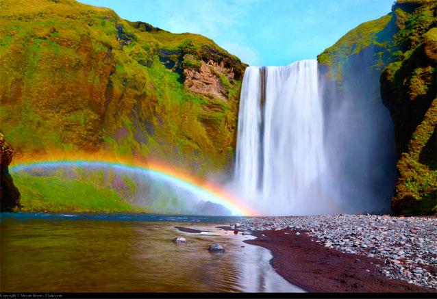 Viaje islandia magica islandia cascada hermosa