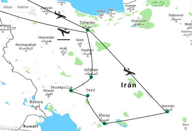 Viaje iran viaje persia 8 dias mapa iran