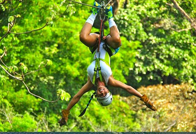 Viaje oferta costa rica libre 4x4 Tirolinas en el parque de vista los suenos