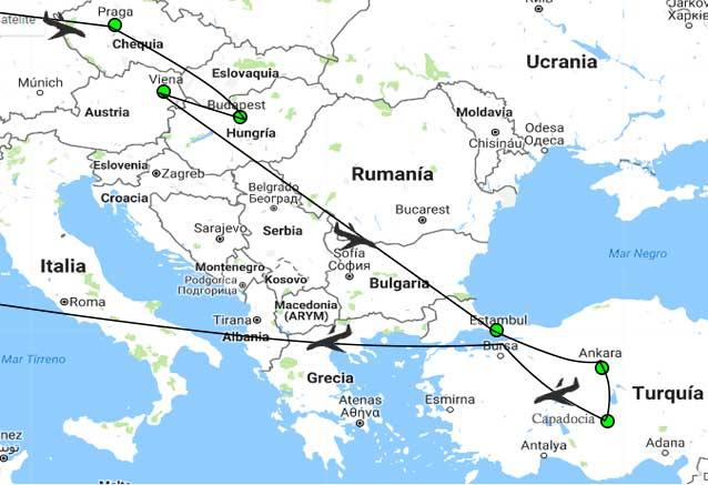 Viaje grandes ciudades imperiales europeas plus estambul