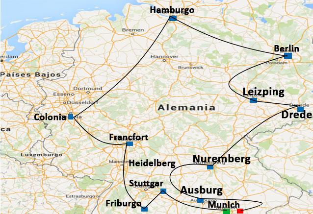 Viaje alemania al completo 15 dias alemania al completo mapa