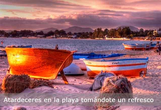 Foto del viaje ofertas vacaciones playas tunez tunez atardecer en la playa