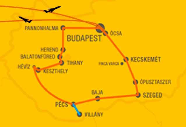Viaje gran tour hungria 8 dias mapa hungria viaje oferta
