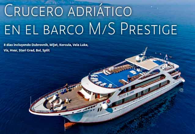 Viaje crucero adriatico croacia barco prestige general