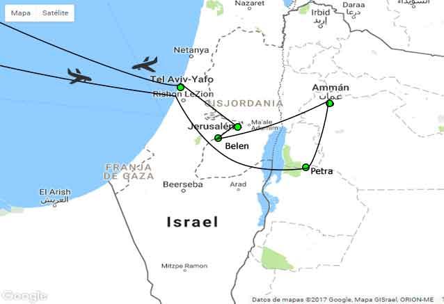 Viaje jerusalen petra tu viaje oferta israel con petra mapa
