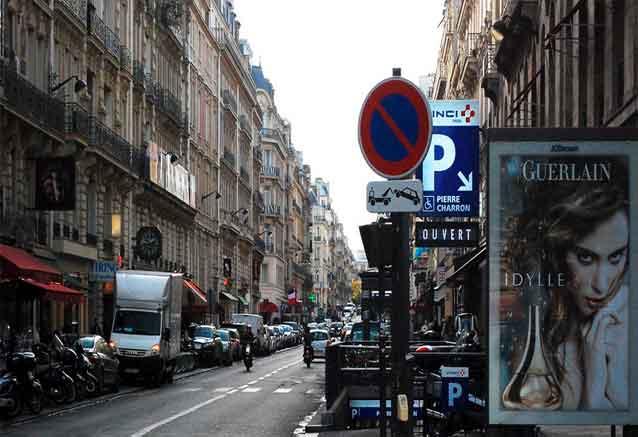 Viaje sofisticada europa paris una calle cualquiera