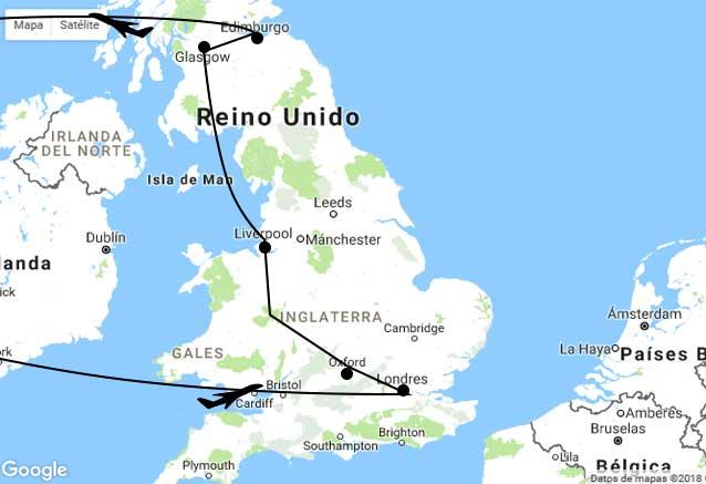 Viaje britania leyenda mapa leyendas uk