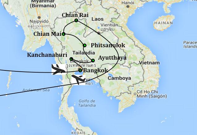Viaje tailandia sur norte krabi bkk chianmai